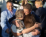 August 14, 2021 : TWO EMMYS, #4, ridden by jockey James Graham, wins the Mister D on Mister D Stakes Day at Arlington Park Racecourse on August 14, 2021 in Arlington Heights, Illinois. Nicole Thomas/Eclipse Sportswire/CSM
