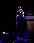 Rachel Chavkin  on stage at the Stage Directors and Choreographers Foundation event honoring Julie Taymor with the Mr. Abbott Award at the Bohemian National Hall on April 2, 2018 in New York City.