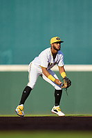 Bradenton Marauders shortstop Maikol Escotto (35) during Game Two of the Low-A Southeast Championship Series against the Tampa Tarpons on September 22, 2021 at LECOM Park in Bradenton, Florida.  (Mike Janes/Four Seam Images)