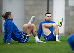 St Johnstone Training…27.09.19<br />Stevie May and Jason Holt pictured during training this morning at McDiarmid Park ahead of tomorrow's game against Motherwell.<br />Picture by Graeme Hart.<br />Copyright Perthshire Picture Agency<br />Tel: 01738 623350  Mobile: 07990 594431