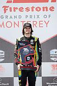 #26: Colton Herta, Andretti Autosport w/ Curb-Agajanian Honda, podium, trophy, winner