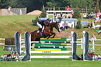 5th September 2021; Bicton Park, East Budleigh Salterton, Budleigh Salterton, United Kingdom: Bicton CCI 5* Equestrian Event; Gemma Tattersall riding Chilli Knight on her way to a clear round and winning the Bicton 5*