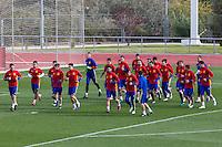 Spainsh coach Julen Lopetegui and players,  David De Gea, Sergio Asenjo, Reina, Azpilicueta, Bartra, Carvajal, Monreal, Nacho, Iñigo Martínez, Koke, Thiago, Sergi Roberto, Isco, Busquets, Lucas Vázquez, Vitolo, Herrera, Aritz Aduriz, Nolito, Mata, Callejón, Morata, Silva during the training of the spanish national football team in the city of football of Las Rozas in Madrid, Spain. November 09, 2016. (ALTERPHOTOS/Rodrigo Jimenez) ///NORTEPHOTO.COM