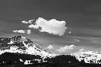 Snow and clouds near Aspen