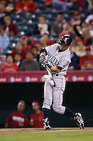 Ichiro Suzuki of the Seattle Mariners during a game from the 2007 season at Angel Stadium in Anaheim, California. (Larry Goren/Four Seam Images)