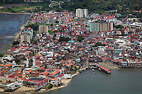 aerial photograph of Casco Viejo, City of Panama, Panama, the city's historic district aerial photograph of Casco Viejo, San Felipe, the historic district of Panama City, Panama | fotografía aérea del Casco Viejo, San Felipe, el distrito histórico de Panamá