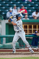 West Michigan Whitecaps second baseman David Gonzalez (10) at bat against the Fort Wayne TinCaps on May 23, 2016 at Parkview Field in Fort Wayne, Indiana. The TinCaps defeated the Whitecaps 3-0. (Andrew Woolley/Four Seam Images)