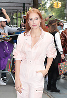 NEW YORK, NY- October 12: Jessica Chastain seen after an appearance on The View promoting HBOMAX's Scenes From A Marriage on October 12, 2021 in New York City. <br /> CAP/MPI/RW<br /> ©RW/MPI/Capital Pictures