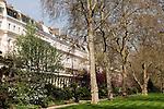 Eaton Square, private gardens.  Belgravia, City of Westminster, London SW1 England. 2006