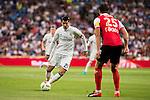 Real Madrid's player Alvaro Morata and Stade de Reims's player Weber during the XXXVII Santiago Bernabeu Trophy in Madrid. August 16, Spain. 2016. (ALTERPHOTOS/BorjaB.Hojas)