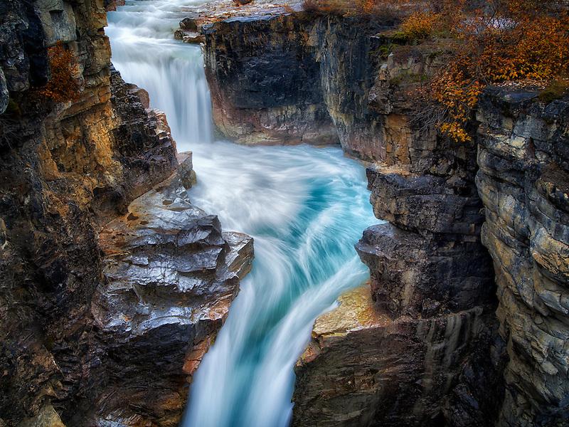 Tokumm Creek Falls, Marble Canyon. Kooteny National Park, Canada