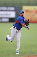 Bryant Flete #1 of the AZL Cubs during a game against the AZL Rangers at Surprise Stadium on July 6, 2014 in Surprise, Arizona. AZL Rangers defeated the AZL Cubs, 7-5. (Larry Goren/Four Seam Images)