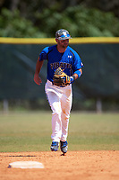 Seton Hall Pirates second baseman Rob Dadona (1) during a game against the Ohio State Buckeyes on March 4, 2016 at North Charlotte Regional Park in Port Charlotte, Florida.  Ohio State defeated Seton Hall 9-3.  (Mike Janes/Four Seam Images)