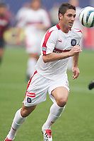 Ante Razov scored the game winning goal for the Fire. The Chicago Fire defeated the NY/NJ MetroStars 3-2 on 6/14/03 at Giant's Stadium, NJ..