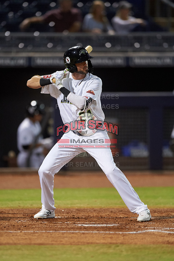 Peoria Javelinas C.J. Chatham (24), of the Boston Red Sox organization, at bat during an Arizona Fall League game against the Surprise Saguaros on September 22, 2019 at Peoria Sports Complex in Peoria, Arizona. Surprise defeated Peoria 2-1. (Zachary Lucy/Four Seam Images)