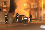 Car fire after Robbery in Tesco