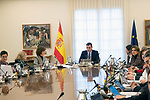 Spain's Prime Minister Pedro Sanchez attends the first cabinet meeting of the new government. January 14,2020. (ALTERPHOTOS/Ander Beizama)