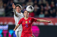 CARSON, CA - FEBRUARY 7: Megan Rapinoe #15 of the United States looks to the ball during a game between Mexico and USWNT at Dignity Health Sports Park on February 7, 2020 in Carson, California.