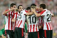 Athletic Club de Bilbao's players celebrate goal during Europa League Play-off, 2nd leg. August 24,2017.  *** Local Caption *** © pixathlon<br /> Contact: +49-40-22 63 02 60 , info@pixathlon.de