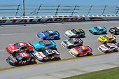 NASCAR Xfinity Series<br /> Sparks Energy 300<br /> Talladega Superspeedway, Talladega, AL USA<br /> Saturday 6 May 2017<br /> Erik Jones, Reser's American Classic Toyota Camry, Ryan Reed, Lilly Diabetes Ford Mustang, Joey Logano, Discount Tire Ford Mustang, Aric Almirola, Fresh From Florida Ford Mustang, Daniel Suarez, Peak Antifreeze & Coolant Toyota Camry.<br /> World Copyright: John K Harrelson<br /> LAT Images<br /> ref: Digital Image 17TAL1jh_01841