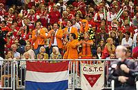 Switserland, Genève, September 18, 2015, Tennis,   Davis Cup, Switserland-Netherlands, supporters<br /> Photo: Tennisimages/Henk Koster