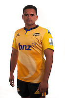 Leni Apisai. Hurricanes Super Rugby official headshots at Rugby League Park, Wellington, New Zealand on Tuesday, 13 January 2015. Photo: Dave Lintott / lintottphoto.co.nz