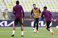 25th May 2021; Gdansk, Poland; Manchester United training at the Stadion Energa Gdańsk prior to their Europa League final versus Villarreal on May 26th;  BRUNO FERNANDES