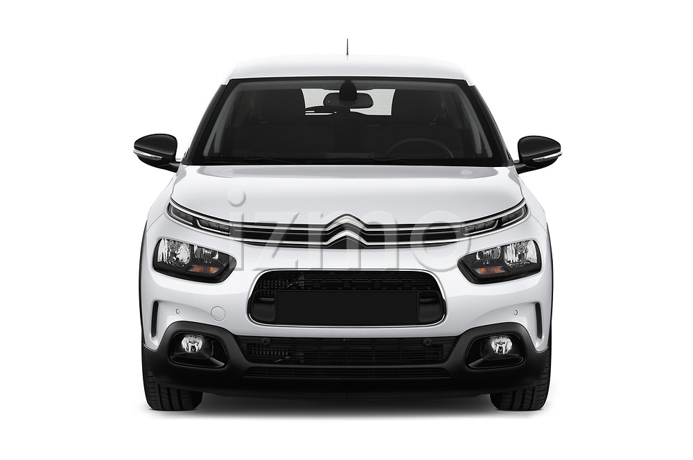 Car photography straight front view of a 2018 Citroen C4 Cactus Shine 5 Door SUV