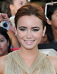 Lily Collins at the Summit Entertainment's Premiere of The Twilight Saga : Eclipse held at the Los Angeles Film Festival at Nokia Live in Los Angeles, California on June 24,2010                                                                               © 2010 Debbie VanStory / Hollywood Press Agency