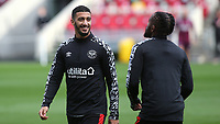 Said Benrahma of Brentford in good spirits ahead of kick-off during Brentford vs Fulham, Caraboa Cup Football at the Brentford Community Stadium on 1st October 2020