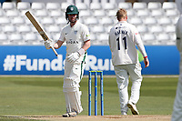 Jake Libby of Worcestershire acknowledges reaching 150 runs during Essex CCC vs Worcestershire CCC, LV Insurance County Championship Group 1 Cricket at The Cloudfm County Ground on 11th April 2021