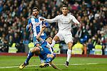 Real Madrid´s Cristiano Ronaldo and Espanyol´s Alvaro during 2015/16 La Liga match between Real Madrid and Espanyol at Santiago Bernabeu stadium in Madrid, Spain. January 31, 2016. (ALTERPHOTOS/Victor Blanco)