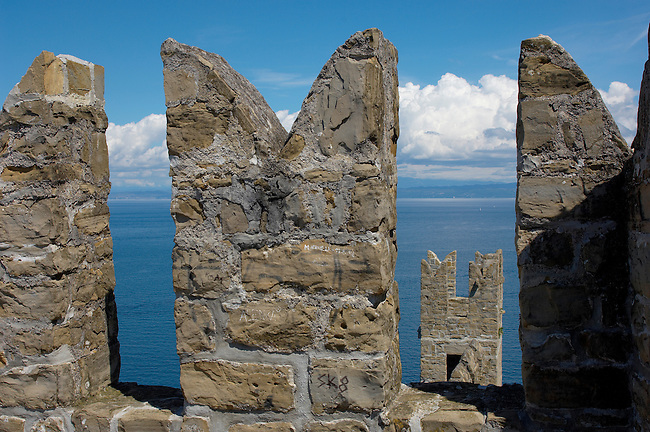 The ancient wall of Piran , Slovenia