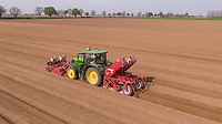 Incorporating nematicie and planting potatoes - Lincolnshire, April