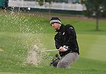 4 October 2008: Todd Demsey blast from a greenside bunker during the third round at the Turning Stone Golf Championship in Verona, New York.