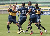 PALMIRA - COLOMBIA, 22-04-2021: Boca Juniors de Cali y Valledupar F.C. en partido de vuelta por la por la segunda ronda clasificatoria como parte de la Copa BetPlay DIMAYOR 2021 jugado en el estadio Francisco Rivera Escobar de la ciudad de Palmira. / Boca Juniors de Cali and Valledupar F.C. in second leg match for the second qualifying round as part of BetPlay DIMAYOR Cup 2021 played at Francisco Rivera Escobar stadium in Palmira city. Photo: VizzorImage / Magnolia Garces / Cont