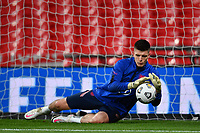 25th March 2021; Wembley Stadium, London, England;  Goalkeeper Dean Henderson England during warm up prior to the World Cup 2022 Qualification match between England and San Marino at Wembley Stadium in London, England.