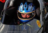 Oct. 31, 2008; Las Vegas, NV, USA: NHRA top fuel dragster driver Tim Boychuk during qualifying for the Las Vegas Nationals at The Strip in Las Vegas. Mandatory Credit: Mark J. Rebilas-