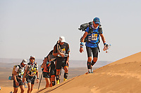 5th October 2021; Kourci Dial Zaid to Jebel El Mraier ;  Marathon des Sables, stage 3 of  a six-day, 251 km ultramarathon, which is approximately the distance of six regular marathons. The longest single stage is 91 km long. This multiday race is held every year in southern Morocco, in the Sahara Desert.
