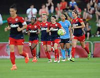 Boyds, MD - Saturday June 25, 2016: Washington Spirit Diana Matheson goal prior to a United States National Women's Soccer League (NWSL) match between the Washington Spirit and Sky Blue FC at Maureen Hendricks Field, Maryland SoccerPlex.