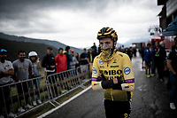 George Bennett (AUS/Jumbo Visma) after finishing the stage where the weather turned foul in the finale<br /> <br /> Stage 9: Andorra la Vella to Cortals d'Encamp (94km) - ANDORRA<br /> La Vuelta 2019<br /> <br /> ©kramon