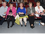 Christy and Peggy Donnelly, Lilly Madden, Ann Kierans and Kathleen Reilly pictured at the Drogheda Town FC dance show in the TLT. Photo:Colin Bell/pressphotos.ie