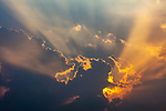 Middle East, Israel, sunlight through clouds