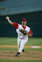 Troy Percival of the Anaheim Angels during a 2003 season MLB game at Angel Stadium in Anaheim, California. (Larry Goren/Four Seam Images)