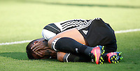 Calcio, Serie A: Lazio vs Juventus. Roma, stadio Olimpico, 27 agosto 2016.<br /> Juventus' Dani Alves reacts after being injured during the Serie A soccer match between Lazio and Juventus, at Rome's Olympic stadium, 27 August 2016. Juventus won 1-0.<br /> UPDATE IMAGES PRESS/Isabella Bonotto