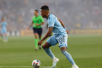 ST PAUL, MN - JULY 24: Juan Agudelo #21 of Minnesota United FC during a game between Portland Timbers and Minnesota United FC at Allianz Field on July 24, 2021 in St Paul, Minnesota.