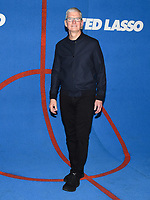 """15 July 2021 - West Hollywood, California - Tim Cook. Apple's """"Ted Lasso"""" Season 2 Premiere held at the Pacific Design Center. Photo Credit: Billy Bennight/AdMedia"""