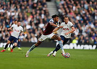 3rd October 2021; Tottenham Hotspur Stadium. Tottenham, London, England; Premier League football, Tottenham versus Aston Villa: Tyrone Mings of Aston Villa