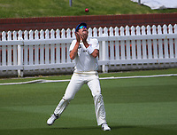 Danru Ferns catches Devon Conway during day three of the Plunket Shield match between the Wellington Firebirds and Auckland Aces at the Basin Reserve in Wellington, New Zealand on Monday, 16 November 2020. Photo: Dave Lintott / lintottphoto.co.nz