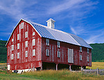 Warren County, VA<br /> Weathered red barn on the Poor House Farm near Browntown, VA